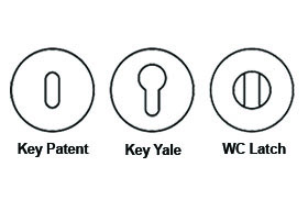 key hole types for door handles
